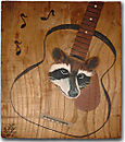 Raccoon In Guitar
