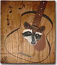 Raccoon In Guitar