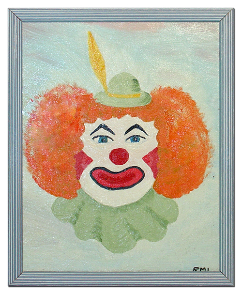 Clown With Orange 'Fro
